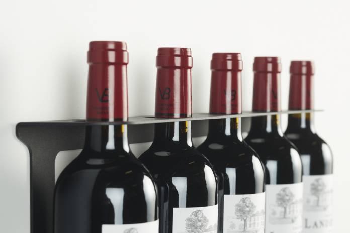 Porte bouteille 5 noir Vinovya